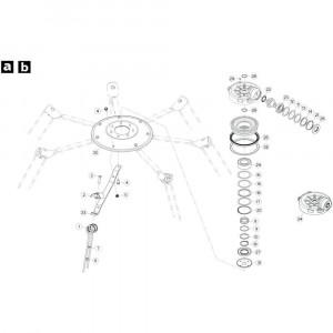 20 Rotor, rechtsdraaiend passend voor KUHN GF5202