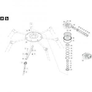 21 Rotor, rechtsdraaiend passend voor KUHN GF5202
