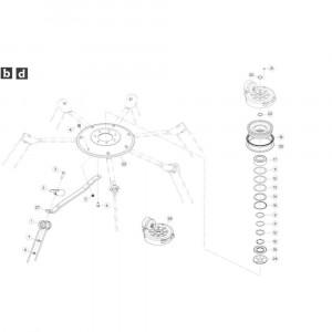 23 Rotor, linksdraaiend passend voor KUHN GF5202