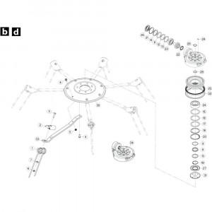 24 Rotor, linksdraaiend passend voor KUHN GF5202
