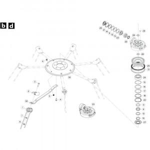 25 Rotor, linksdraaiend passend voor KUHN GF5202