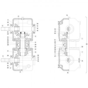 04 Gyrodine tandwielkast passend voor KUHN FC313TG