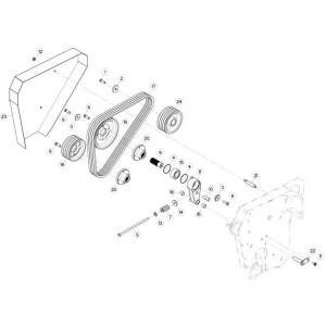 16 Schijven, beschermingen en glijplaten 2 passend voor KUHN FC313TG