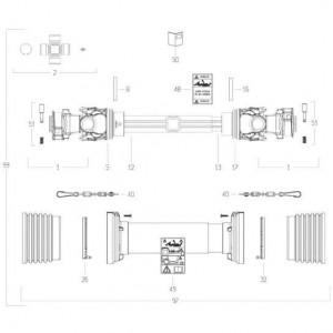 39 Transmissie 1 passend voor KUHN FC313TG