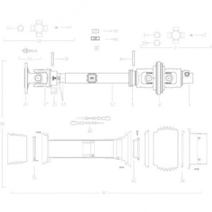41 Transmissie 3 passend voor KUHN FC313TG