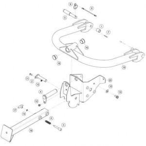 01 Bevestigingsframe passend voor KUHN FC313TG-FFRA