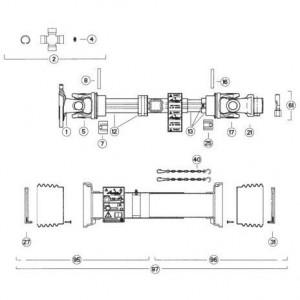 40 Transmissie 2 passend voor KUHN FC313TG-FFRA
