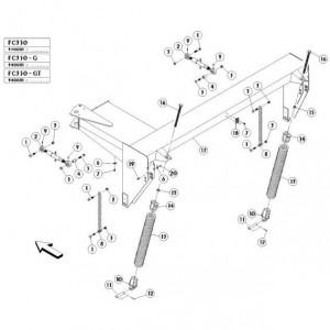 04 Frame passend voor KUHN FC350G