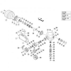 06 Haakse tandwielkast passend voor KUHN FC350G