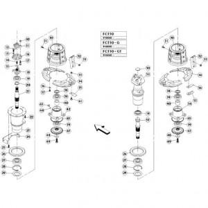 07 Schijven, buiten passend voor KUHN FC350G