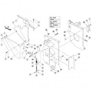 12 Zijplaten passend voor KUHN FC350G