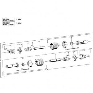 27 Hoofd-aftakas 2 passend voor KUHN FC350G