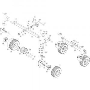 105 Cardanwiel 2 passend voor KUHN GF10802T