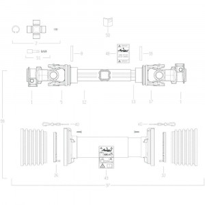 110 Transmissie 5 passend voor KUHN GF10802T