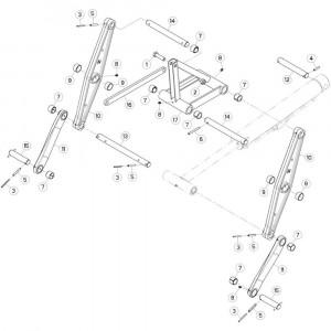 16 Trekstang 1 passend voor KUHN GF10802T