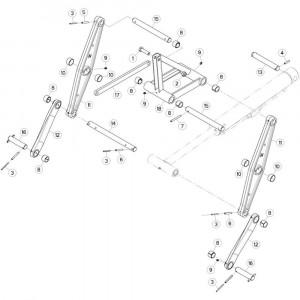 17 Trekstang 2 passend voor KUHN GF10802T