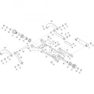 23 Tussenwing 3, rechts 2 passend voor KUHN GF10802TGII