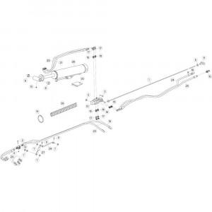 28 Hydrauliek, voorzijde 1 passend voor KUHN GF10802TGII