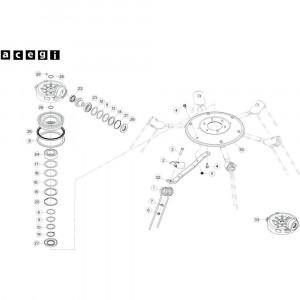 36 Rotor, rechts 2 passend voor KUHN GF10802TGII