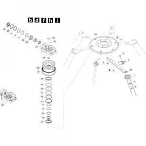 38 Rotor, links 1 passend voor KUHN GF10802TGII