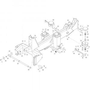 06 Verbindingsframe, achter 2 passend voor KUHN GF13002