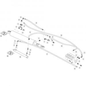 33 Hydrauliekslangen, links 2 passend voor KUHN GF13002