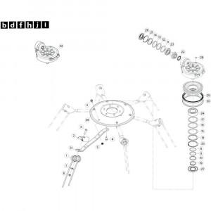 37 Rotor, links 2 passend voor KUHN GF13002