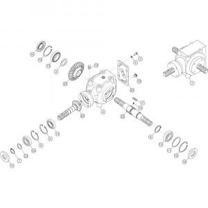 14 Conische tandwielkast passend voor KUHN GF13002