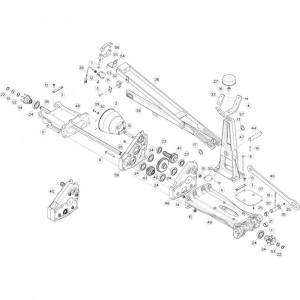 19 Tussenwing 1, rechts 2 passend voor KUHN GF13002