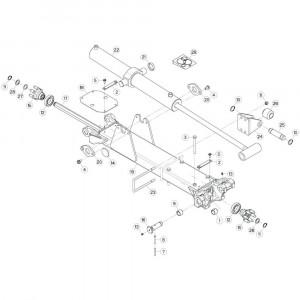 24 Tussenwing 2, rechts 1 passend voor KUHN GF13002