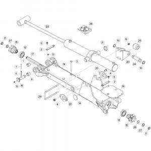 27 Tussenwing 2, links 2 passend voor KUHN GF13002