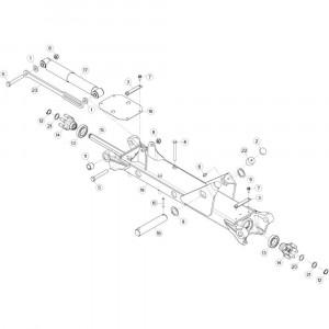 31 Tussenwing 3, links 2 passend voor KUHN GF13002