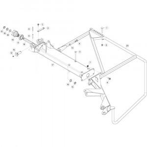 32 Buitenwing, rechts 1 passend voor KUHN GF13002