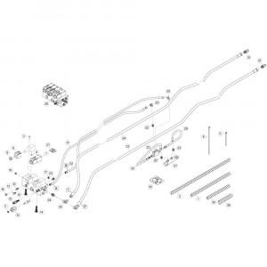 36 Hydrauliekslangen, voorzijde 1 passend voor KUHN GF13002