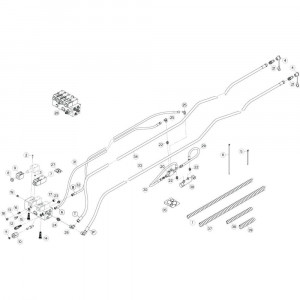 37 Hydrauliekslangen, voorzijde 2 passend voor KUHN GF13002