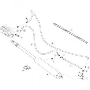 40 Hydrauliekslangen, rechts 2 passend voor KUHN GF13002