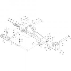 10 Centrale wing, links passend voor KUHN GF13012
