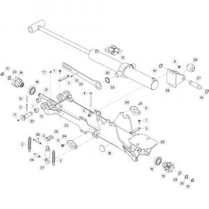 14 Tussenwing 2, links passend voor KUHN GF13012