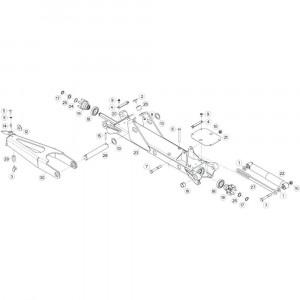 15 Tussenwing 3, rechts passend voor KUHN GF13012