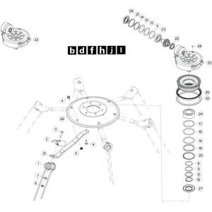 26 Rotor, links passend voor KUHN GF13012