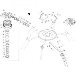 27 Rotor passend voor KUHN GF13012