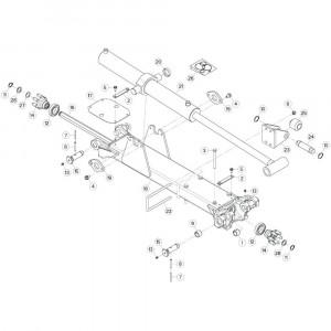14 Tussenwing 3, rechts passend voor KUHN GF17002