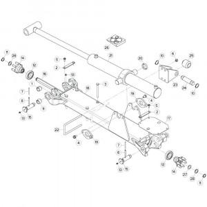 15 Tussenwing 3, links passend voor KUHN GF17002