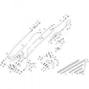 22 Hydrauliekslangen, voorzijde passend voor KUHN GF17002
