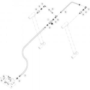 23 Hydrauliekslangen, tussendeel passend voor KUHN GF17002