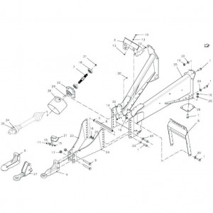 001 Verbindingsframe-uitrusting passend voor DEUTZ-FAHR BigMaster 5712