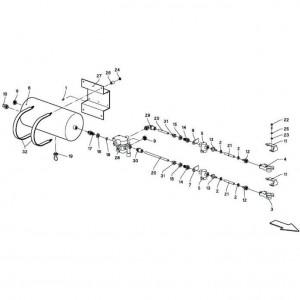010 Hydraulisch blok passend voor DEUTZ-FAHR BigMaster 5712