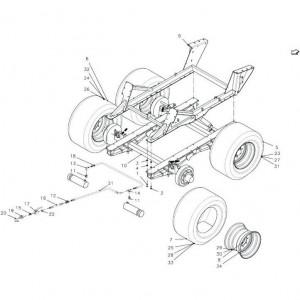012 Frame regelmatig draaistel passend voor DEUTZ-FAHR BigMaster 5712
