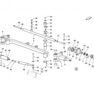 016 Stuurinrichting regelmatig draaistel passend voor DEUTZ-FAHR BigMaster 5712