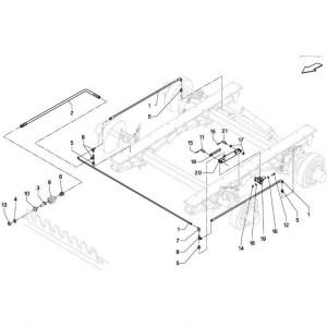 018 Remmen tandem passend voor DEUTZ-FAHR BigMaster 5712